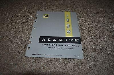 Alemite Lubrication Fitting catalog 1961