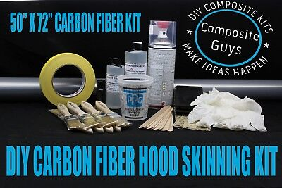 """PRO CAMOUFLAGE CARBON FIBER HOOD / ROOF SKINNING BUILDING KIT 72"""" x 50""""  for sale  Shipping to Canada"""