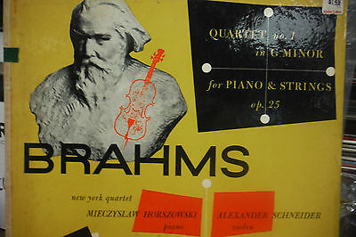 Brahms Quartet No 1 in G Minor for piano & strings Op. 25 33RPM 050616