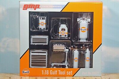 GreenLight GMP Gulf Tool Set Garage Accessory Kit Diorama Shop 1:18 18872