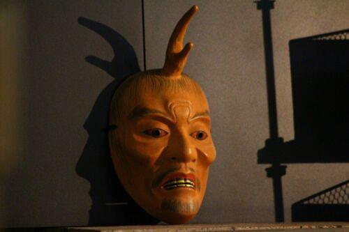 Old wooden Ikkakusennin noh mask kyogen bugaku  # tengu koomote chujo