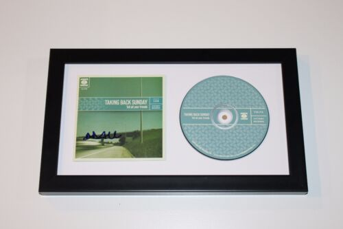 TAKING BACK SUNDAY ADAM LAZZARA SIGNED FRAMED TELL ALL YOUR FRIENDS CD COVER COA