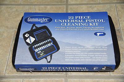 GUNMASTER Gun Cleaning Kit. 22 Piece Universal Pistol Cleaning Kit **Brand New**