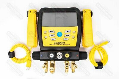 Fieldpiece Sm480v - Wireless 4-port Sman Refrigerant Manifold And Micron Gauge