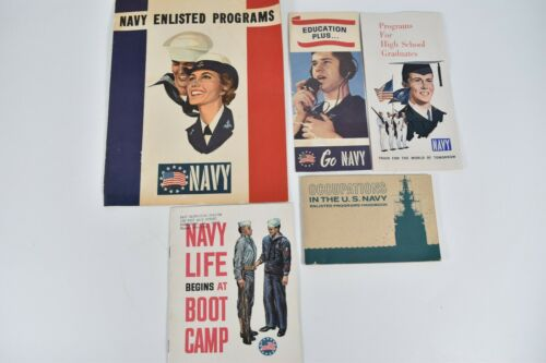 Vintage Lot United States Navy Recruitment Brochures Booklets Enlisted Soldier
