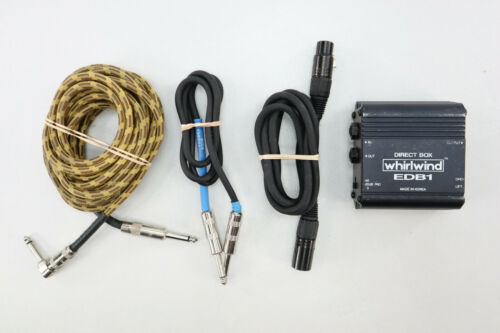 Whirlwind EDB1 Single-Channel Economy Direct Box With Extras