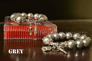 Elegant-Majorica-Pearl-Rosary-Bracelet-Grey