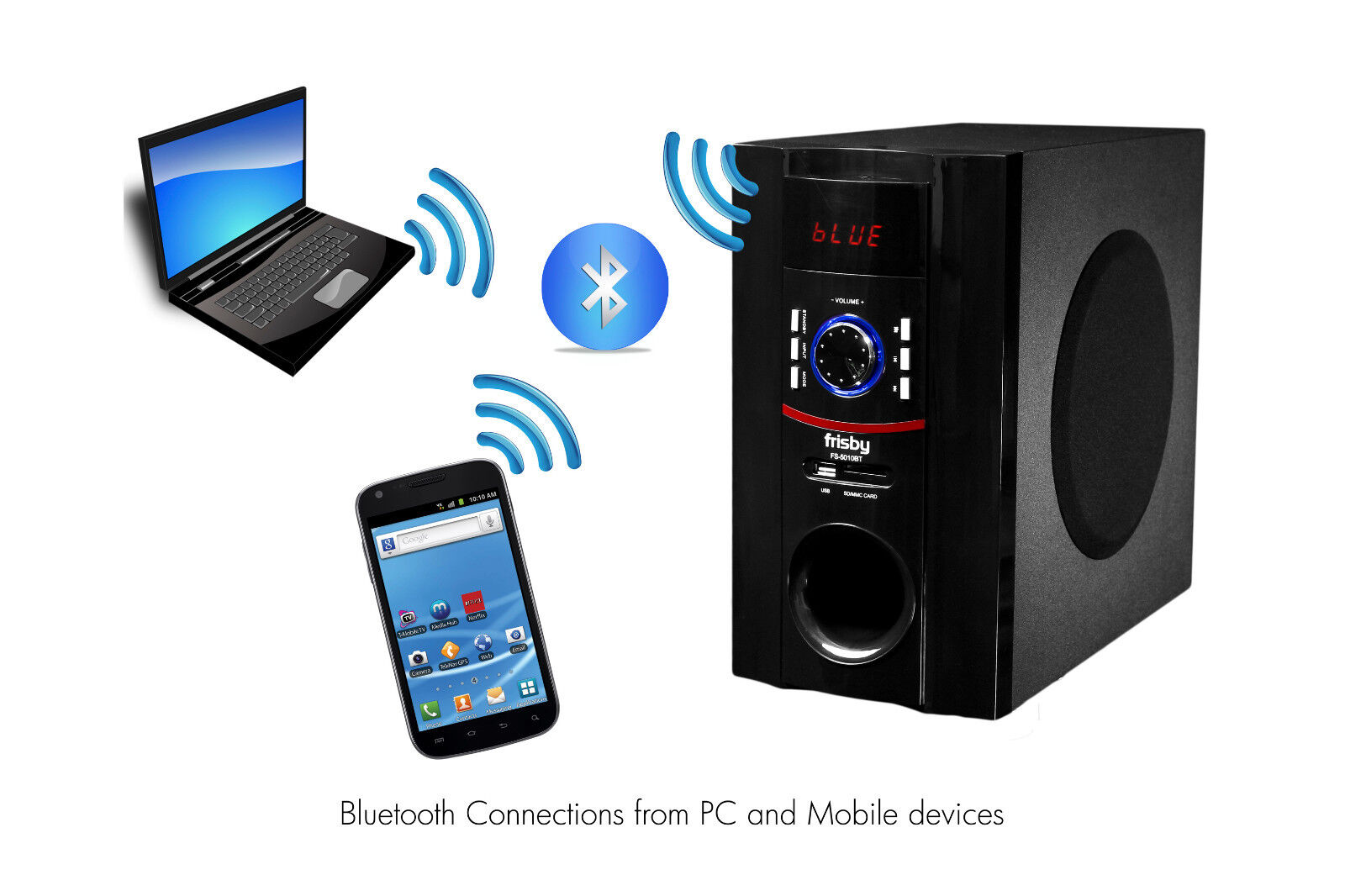 Frisby fs5010bt 800watt bluetooth 5 1 surround sound home - Home cinema bluetooth ...