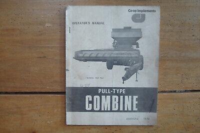 1974 Co-op Implements Model 960 Pull-type Combine Operators Manual