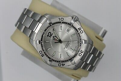 Tag Heuer WAF1112.BA0801 Silver Gray Aquaracer Watch Mens Stainless Sport SS