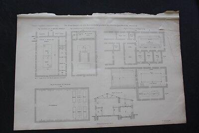 1893 Stich Bergbau / Waschkaue Zeche hannibal Wanne Eickel Gneisenau Derne