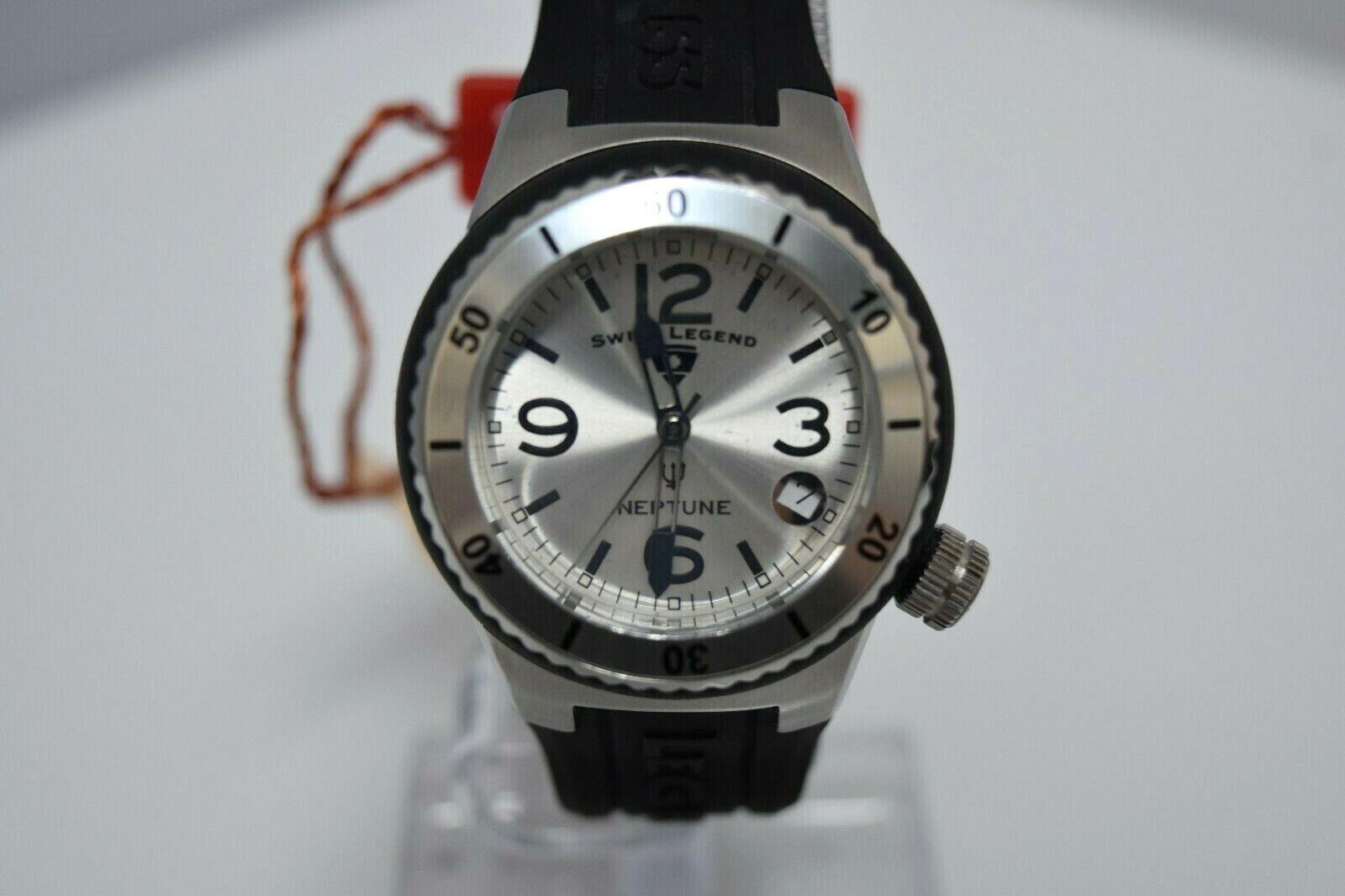 Swiss Legend Swiss Sapphitek 39mm Small SL-11840P Watch Black/SS Silver