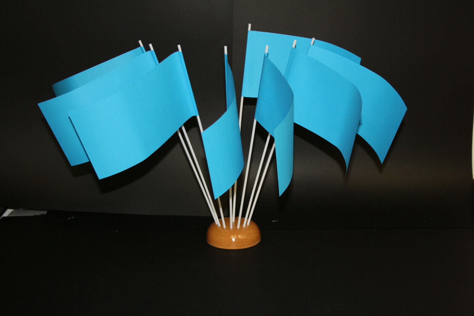 Papierfähnchen/Papierfahnen blau - zum Selbstgestalten geeignet