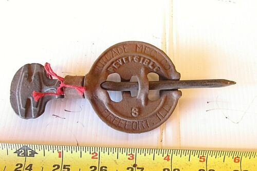 NEW OLD STOCK CAST IRON ARCADE 3 INCH WOOD STOVE PIPE DAMPER