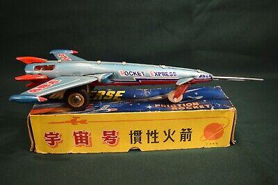 RARE UNIVERSE Friction Rocket Tin Toy MF 030 Vintage China