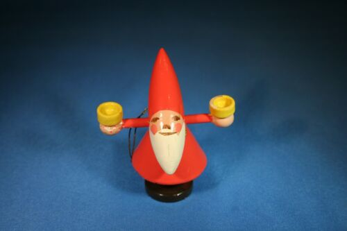 ERZGEBIRGE Wendt Kuhn Santa with Candle Holders Germany Christmas Ornament 2
