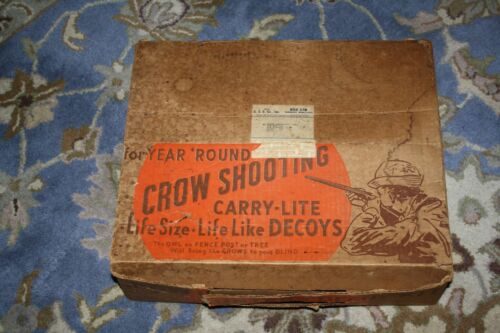Carry-Lite Crow / Owl Shooting Kit Decoys With Original Box