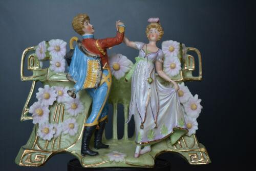 Antique Wallendorf Bisque Porcelain Jardiniere Figure Porzellan Figur Germany
