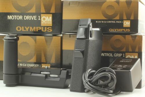 【MINT BOXED】Olympus OM1 Motor Drive 1, Control Pack, Charger 1, Control Grip, JP