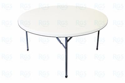 Lot of 10 - 5ft Round White Banquet Catering Folding Tables - Ex Rio Olympics
