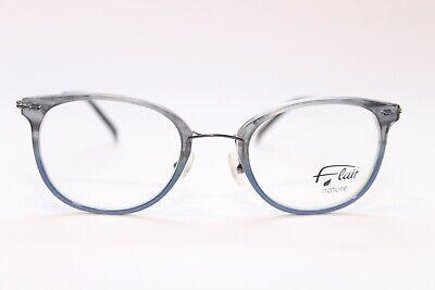 Flair nature 015 c01 277 Kunststoff 49[]21 GrauBlau Panto Damenbrille