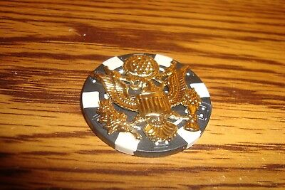USA EAGLE Insignia emblem-USA GREAT SEAL Poker Chip,Golf Ball Marker,Card Guard  for sale  Shipping to India