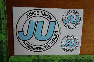 Alter Aufkleber Partei Verband Gewerkschaft JU Junge Union Nordrhein-Westfalen