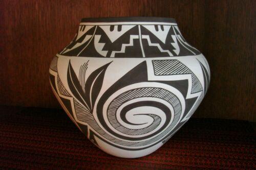 Laguna Pottery Jar By Myron Sarracino Spiral,Plant,Mountain,Avanyu Designs