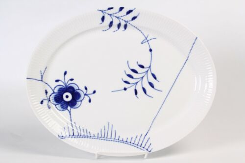 "Royal Copenhagen Blue Fluted Mega 13"" Oval Serving Platter Mint Condition!"