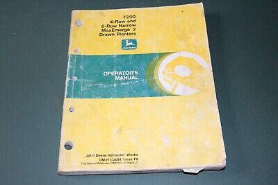 John Deere 7200 4-row And 6-row Maxemerge 2 Drawn Planters Operators Manual