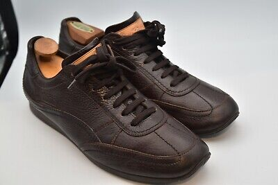 Louis Vuitton Italy Casual Sneakers Shoes Leather Brown MEN'S SZ 8.5 US 9.5