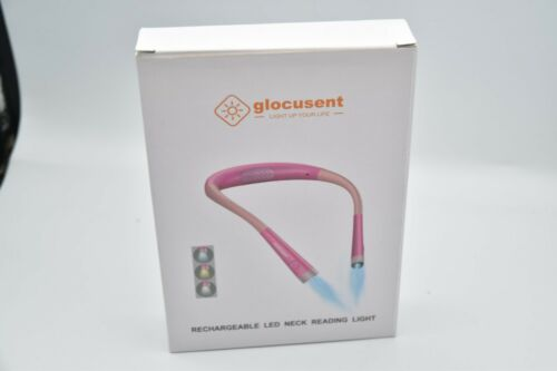 Glocusent Led Neck Reading Light Book In Bed Camping Pink Rechargeable