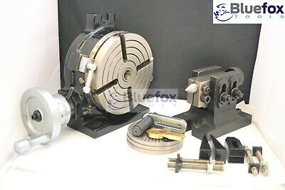 Hv6 Rotary Table 4 Slot 6150 Mm Tailstock Indexing Plates Set Clamping Kit