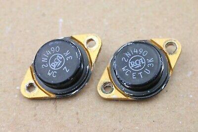 Pair Vintage Rca 2n1490 Power Transistor To-3