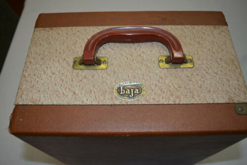 VINTAGE BARNETT & JAFFEE BAJA SLIDE CARRY CASE W/ TRAYS