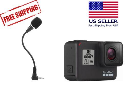 External Microphone for GoPro Hero 7 Black - Pro Sports Equipment Flex Mic