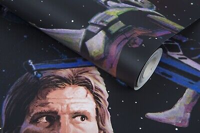 STAR WARS ART STYLE WALLPAPER FEATURING HAN,,10 Meters X 52 Centimetres Sealed