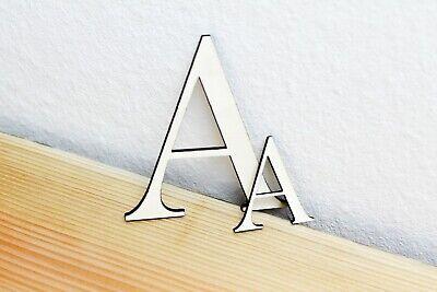Holzbuchstabe Deko Buchstaben Zahlen mit Magnet zwei Größen 10x10cm und 5x5cm