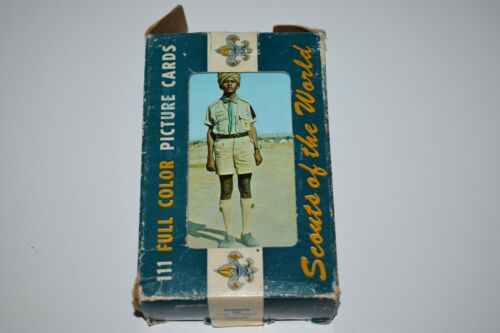 Unused Lot Vintage SCOUTS OF THE WORLD Boy Scouts 1968 Over 100 plus post cards