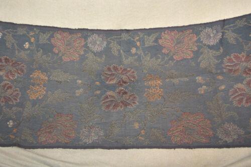 "Antique Original Fabric Bench Chair  Cover Floral Design 20 3/4""W x 53""L"