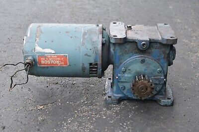 Browning Worm Gear Speed Reducer Electric Motor 237c1-lr15 34 Hp 3 Phase