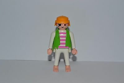 Playmobil minifigure - pirate with eye patch and bare feet-  comb shipping