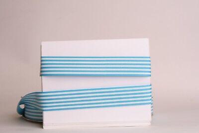 White Stripe Grosgrain (BLUE White Stripes 1