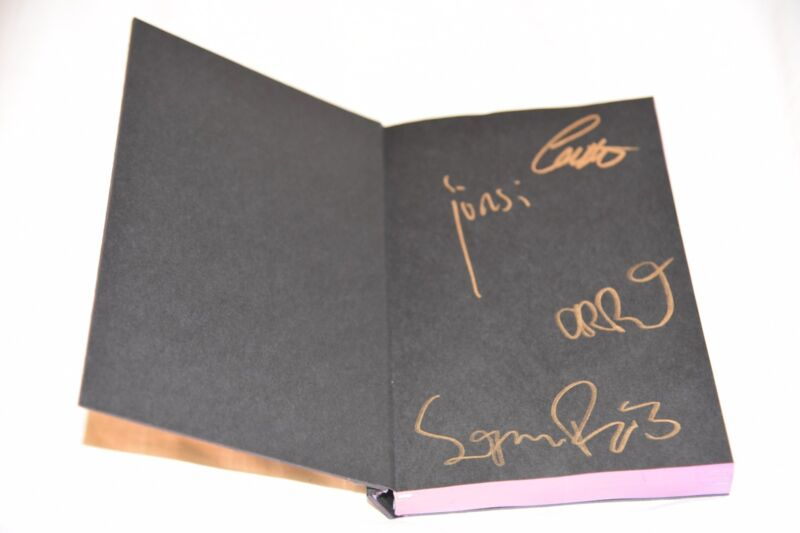 SIGUR ROS AUTOGRAPHED Personally Signed Tour Notebook Book Journal 2016 BESTA