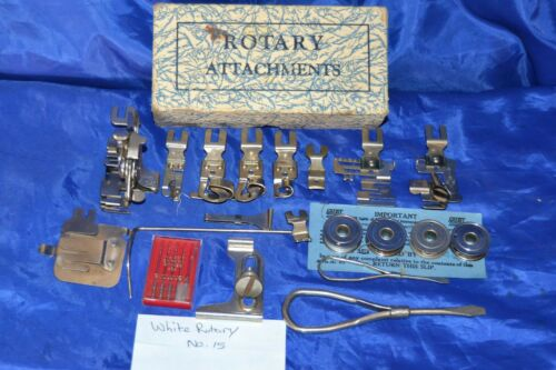 GREIST ATTACHMENTS FOR WHITE ROTARY NO 15 SEWING MACHINES AND OTHER SIMILAR