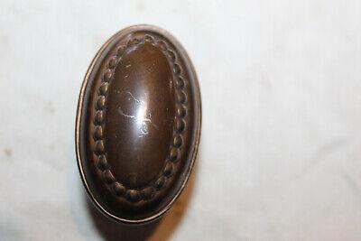 One Beaded Oval Bronze Plated Steel Antique Victorian Door covid 19 (Oval Knob Antique coronavirus)