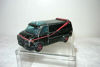 Hot wheels loose a-team van 83-84 gmc panel van first edition black