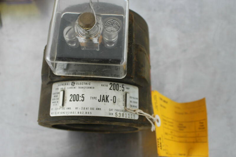 GENERAL ELECTRIC GE 750X33G301 JAK-0 CURRENT TRANSFORMER 200:5 NEW