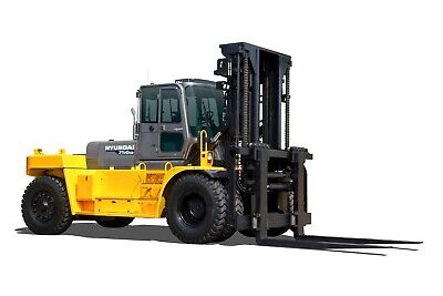 HYUNDAI 1/30 250D FORKLIFT TRUCK Die-Cast Heavy Equipment Miniature Collection