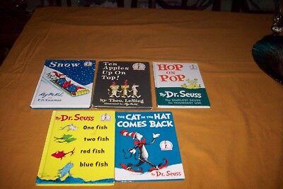 Lot of 5 old Dr. Seuss Books 1958,1960,1961,1962 & 1963 VG CONDITION CHEAP - Cheap Dr Seuss Books